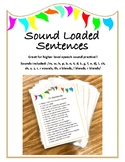 Loaded Sentences - articulation activity