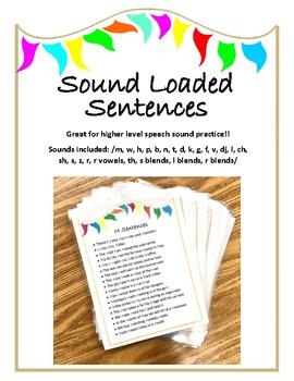 Loaded Sentences - articulation activity