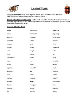 Loaded Words: Definition, Purpose, and List