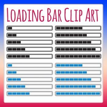 Loading Bar / Progress Meter / Percent Complete / Fractions Clip Art