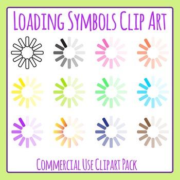 Loading Symbol Clip Art Set for Commercial Use