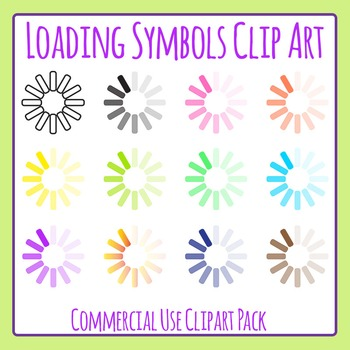 Loading Symbol Clip Art Set for Commercial Use