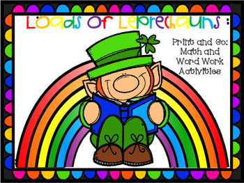 Loads of Leprechauns: St. Patrick's Day print and go activities