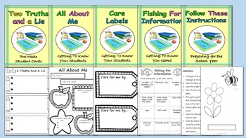 Loads of back to school activities printables & worksheets for first day & week