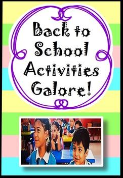 Loads of back to school activities printables & worksheets