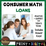 Loans - Consumer Math Unit (Notes, Practice, Test, and Project)