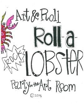 Lobster Art Game for Kids (Emergency Sub Plans)  NO PREP!