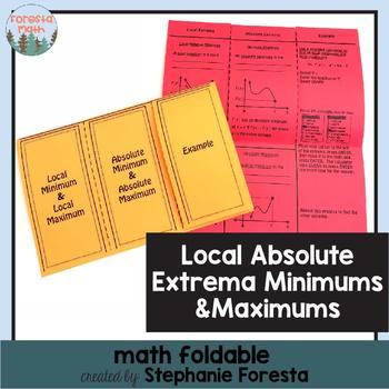 Local & Absolute (Extrema) Minimums and Maximums Foldable