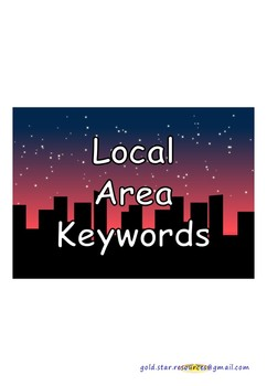 Local Area Keywords on Cityscape at Night