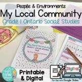 Local Community & Community Helpers Grade 1 Ontario Social