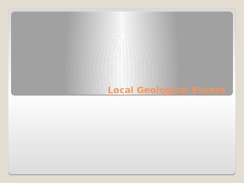 Local Geological Events Lesson 10