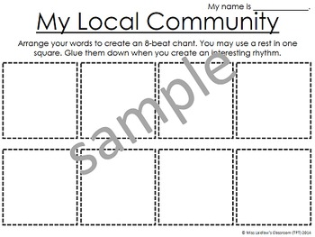 Local & Global Communities Integrated Activity Ontario Gr. 1/2 {Differentiated}
