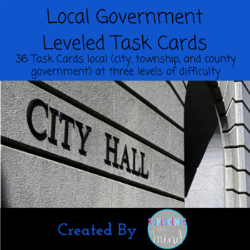 Local Government Leveled Task Cards