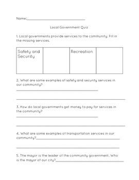 Local Government Quiz