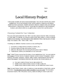 Local History Investigation - Focus on Primary Sources!