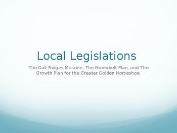 Local Legislations Assignment - Powerpoint