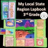 Local Regions Social Studies Lapbook for 3rd Grade - Any State
