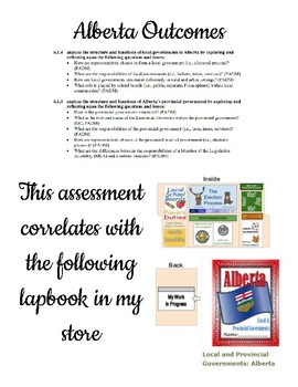 Local and Provincial Government Assessment (AB Grade 6)