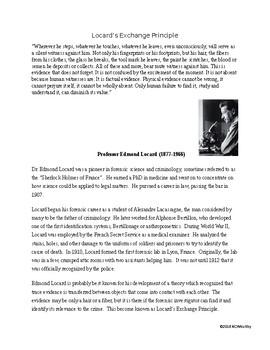 Locard's Principle Short Bio with CER Lab