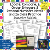 Locate, Compare, and Order Integers & Rational Numbers Notes and Practice