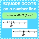 Locate Square Roots on a Number Line - Math Joke Riddle Activity - TEKS 8.2B