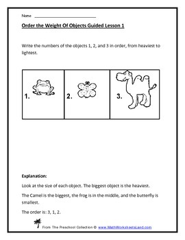 Located the Biggest (Greater Than) - Comparison Teacher Worksheet Pack