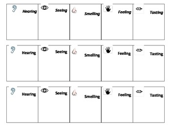 Locating 5 senses in a Reading text