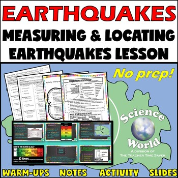 Locating Earthquakes: Earth Science Interactive Notebook