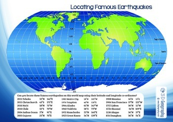 Locating Earthquakes using longitude and latitude