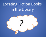 Locating Fiction Books in the Library Power Point Quiz