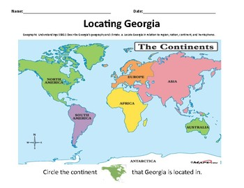 Locating Georgia on a Map - Adaptive Task