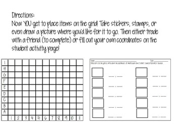 Locating Items On A Grid-Activities for K-3