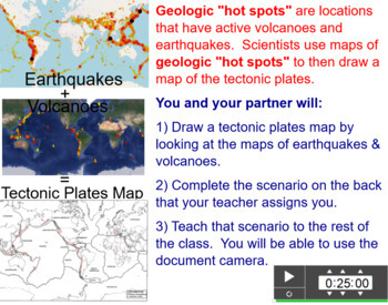 Locating Plate Boundaries Activity - using seismic and volcanic data