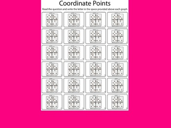Locating Points on the Coordinate Plane BW