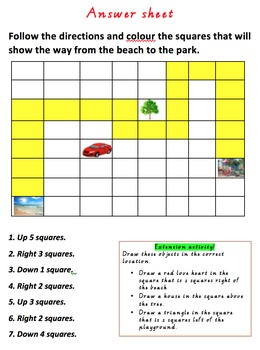 Location Activity sheet with answers