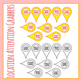 Location Attention Grabbers Map Pointers /Sign Here etc Clip Art Commercial Use