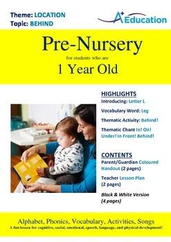 Location - Behind : Letter L : Leg - Pre-Nursery (1 year old)