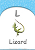 Location - Behind : Letter L : Lizard - Nursery (2 years old)