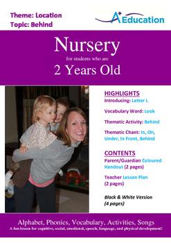 Location - Behind : Letter L : Look - Nursery (2 years old)