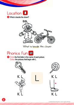 Location - Beside (III): Letter L - Kindergarten, K1 (3 years old)