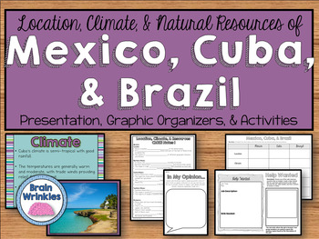 location climate natural resources of mexico cuba brazil ss6g3