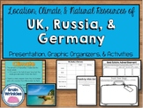 Location, Climate, & Natural Resources of UK, Russia, and Germany