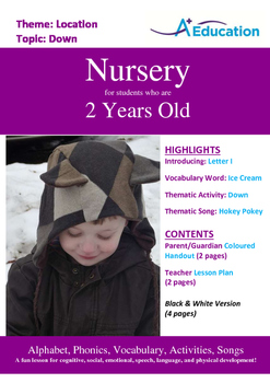 Location - Down : Letter I : Ice Cream - Nursery (2 years old)