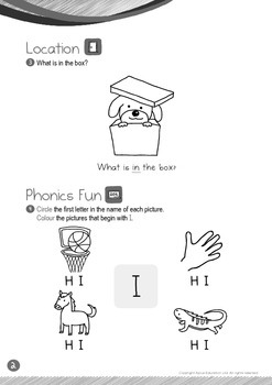 Location - In (I): Letter I - Kindergarten, K1 (3 years old)