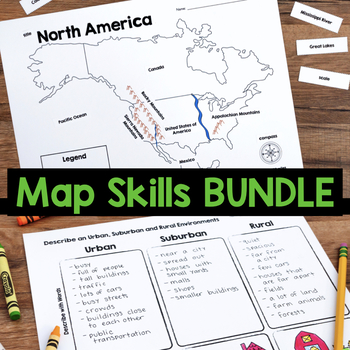 Map Skills & Location {Social Studies Unit}