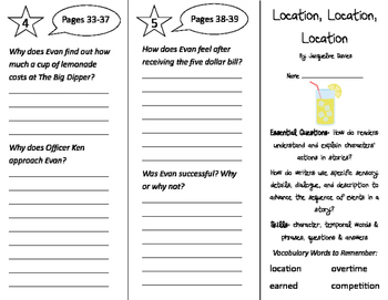 Location, Location, Location Trifold - ReadyGen 3rd Grade Unit 1 Module A