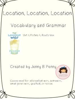 Location, Location, Location: unit 1, module A, Ready Gen 3rd grade