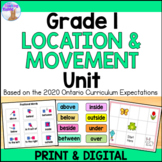 Location & Movement Unit for Grade 1 (Ontario Curriculum)