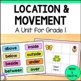 Location & Movement Unit for Grade 1 (Ontario Curriculum)