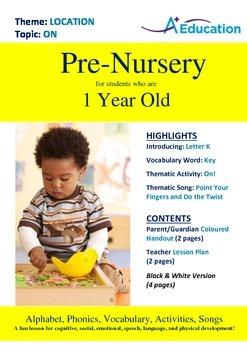 Location - On : Letter K : Key - Pre-Nursery (1 year old)
